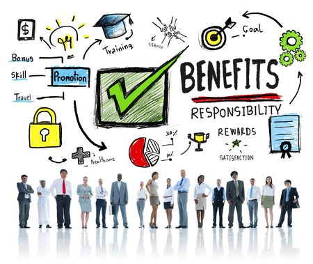 earning: Benefits Gain Profit Earning Income Business People Concept