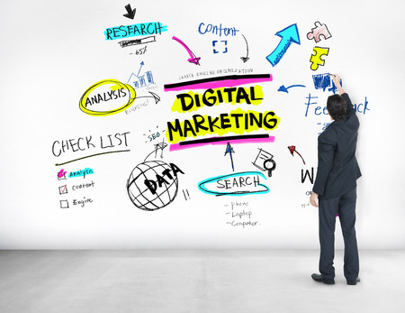 strategies: Digital Marketing Branding Strategy Online Media Concept Stock Photo