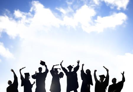 概念の学習の祭典教育卒業学生の成功 写真素材