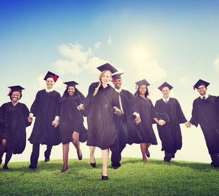 university graduation: Students Graduation Success Achievement Celebration Happiness Concept