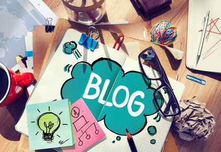 Social Media aansluiten Blog Communicatie Content Concept