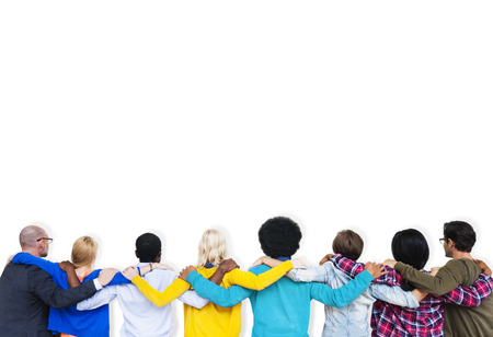 People Rear View Friendship Togetherness Team Concept Stock Photo - 38514132