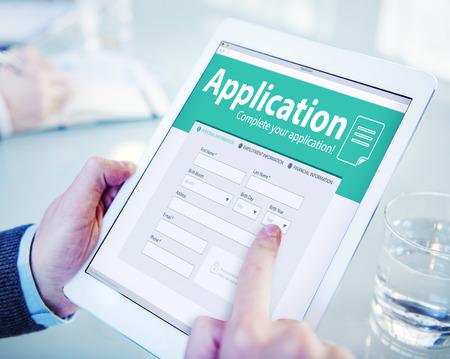 アプリケーション人材仕事募集雇用概念を採用