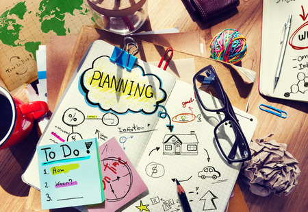 Office Designer Planning Project Strategie Creativiteit Concept Stockfoto