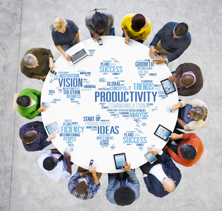 vision concept: Productivity Mission Strategy Business World Vision Concept