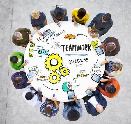 Teamwork Team Together Collaboration Meeting Technology Communication Concept