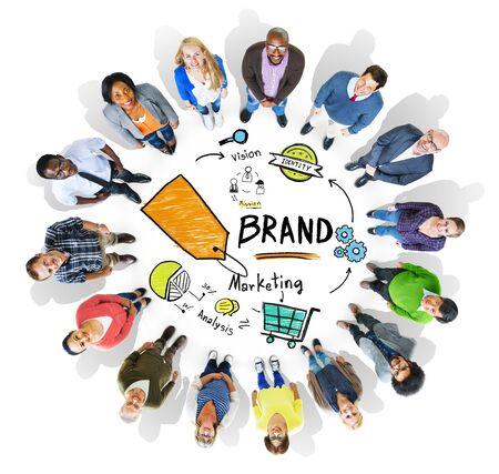 mensen kring: Diverse Mensen Circle Luchtfoto Marketing Brand Concept Stockfoto