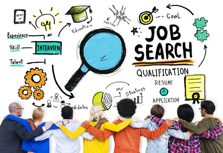 puesto de trabajo: Diversidad Gente com�n y Amigos Job Search Concept