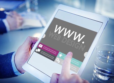 www가 웹 디자인 웹 페이지 웹 사이트 개념 스톡 콘텐츠