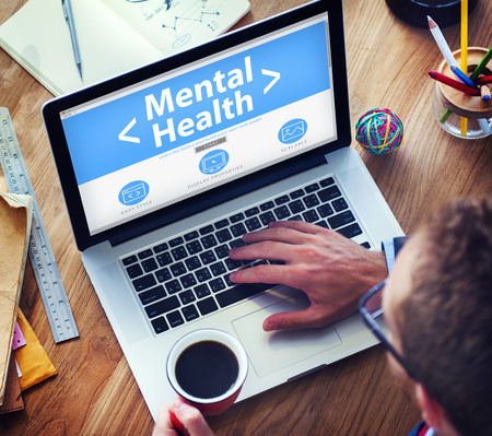 mental disorder: Digital Online Mental Health Healthcare and Medicine Concept