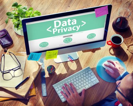 Digital Data Privacy Protection Searching Concept Archivio Fotografico