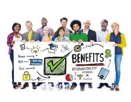gain: Benefits Gain Profit Income Earning People Banner Concept