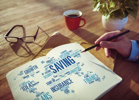 finance: Saving Finance Global Finance World Economy Concept