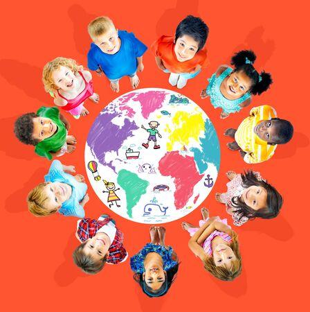 other world: World Kids Journey Adventure Imagination Travel Concept