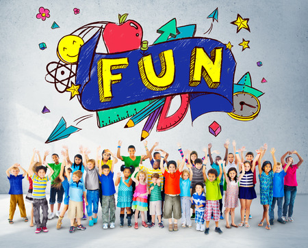 Fun Joy Smiley Stationery Education Concept photo