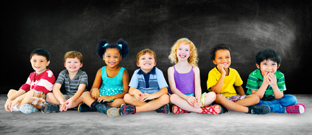 Kids Children Diversity Happiness Group Education Concept Stock Photo