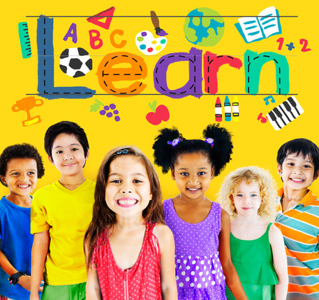 elementary age: Learn Learning Study Knowledge School Child Concept Stock Photo