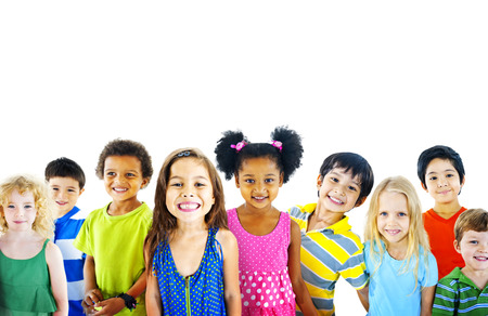 diverse people: Ethnicity Diversity Gorup of Kids Friendship Cheerful Concept