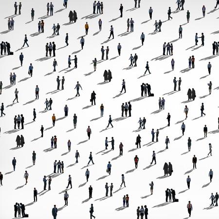 Grupp Människor Mångfald Massa Business människor Koncept