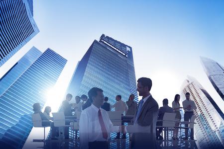 Stadt Scape Business Team Teamwork Treffen Zusammenarbeit Konzept Standard-Bild - 38515076