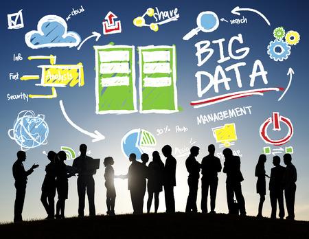 Diversity Business People Big Data Meeting Digital Network Concept
