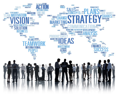 Strategy Analysis World Vision Mission Planning Concept photo