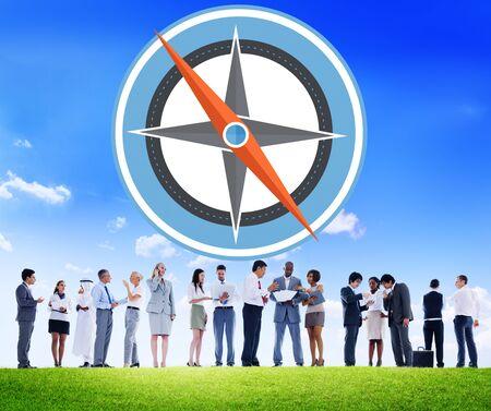 south asian ethnicity: Navigation Compass Direction Exploration Guide Journey Concept