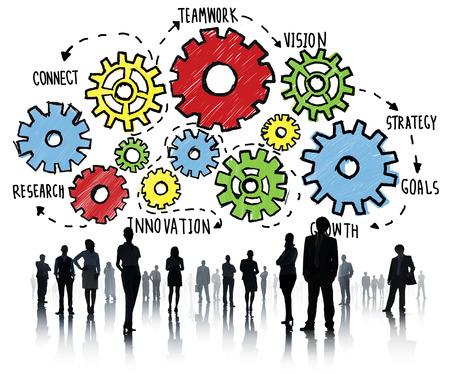 team work: Team Teamwork Goals Strategy Vision Business Support Concept