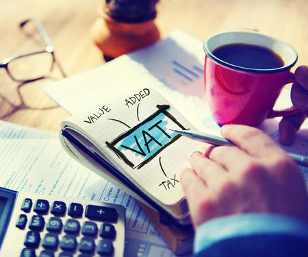 Value Added Tax VAT Finance Taxation Accounting Concept Standard-Bild