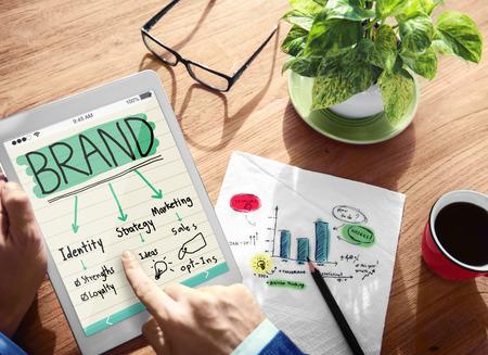 Digital Online Brand Marketing Concept Banque d'images