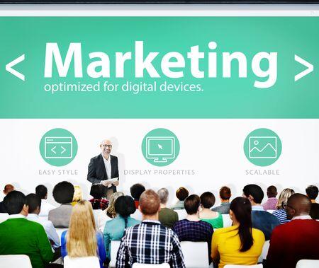 Marketing Web Page Seminar Presentation Concept Stock Photo