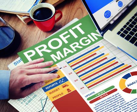 margine: Profit Margin Businessman Working Calculating Planning Paperwork Concept