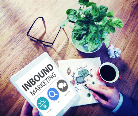 Inbound Marketing Commerce Content Social Media Concept photo