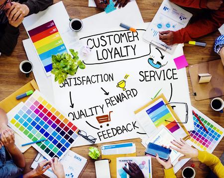 Satisfacción lealtad del cliente Apoyo Estrategia Concepto Foto de archivo