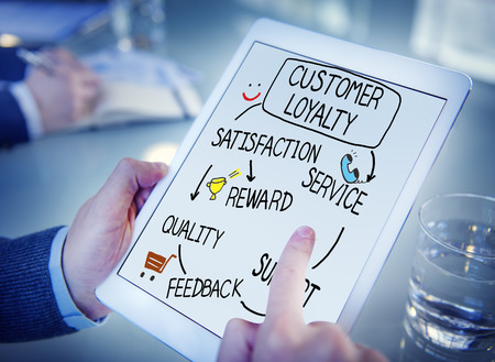 loyal: Customer Loyalty Satisfaction Support Strategy Concept Stock Photo