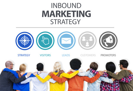 Inbound Marketing Strategy Advertisement Commercial Branding Concept Stockfoto