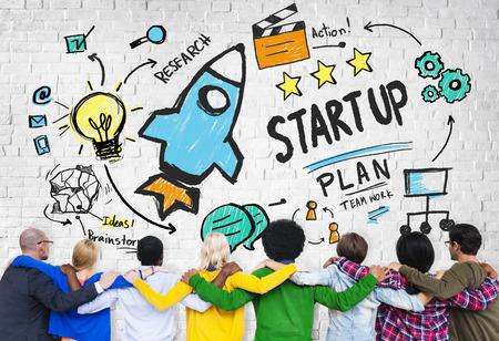 amicizia: Start Up Affari lancio Successo Amicizia Concetto