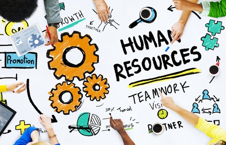 business resources: Human Resources Employment Job Teamwork Office Meeting Concept Stock Photo