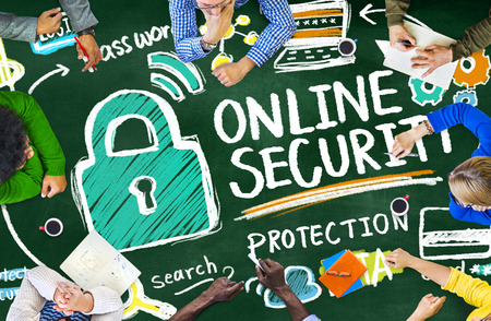 online security: Online Security Protection Internet Safety Learning Education Concept