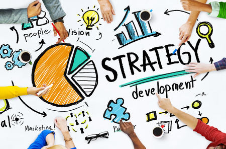 Obiettivo di Sviluppo del Marketing Strategy Vision Planning Business Concept Archivio Fotografico - 38523123