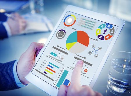 Stratégie du Plan d'information sur la planification des données de stratégie Vision Concept Banque d'images