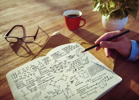 reading and writing: Formula Mathematics Equation Mathematical Symbol Geometry Information Concept Stock Photo