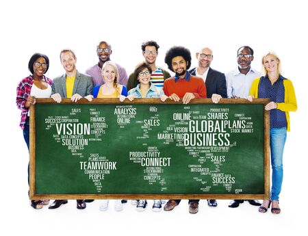 Global Business World Commercial Business People Concept photo
