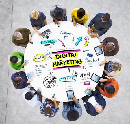 Digital Marketing Branding Strategy Online Media Concept photo