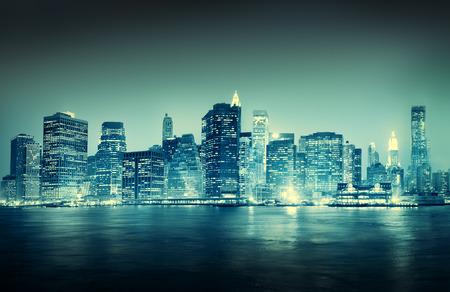 City Scape Edificios de Nueva York Concepto Viaje Foto de archivo - 38522379