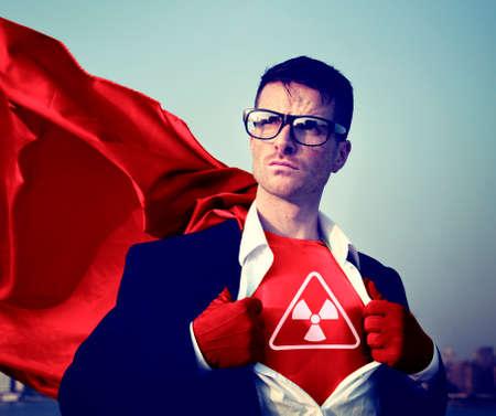 empowerment: Radioactive Strong Superhero Success Professional Empowerment Stock Concept