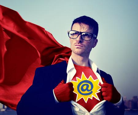 empowerment: Address Strong Superhero Success Professional Empowerment Stock Concept