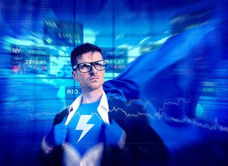 empowerment: Thunderbolt Strong Superhero Success Professional Empowerment Stock Concept