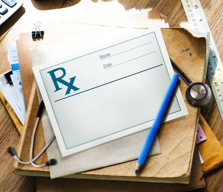 rx: Rx Medical Prescription Health Care Symbol Healthy Concept