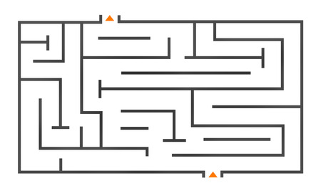 complexity: maze map to show complexity, confusion concept